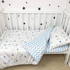 """Постельное белье в детскую кроватку """"Мишки звёздочки"""" - Oh my kids"""