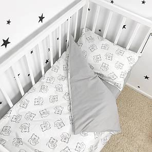 """Постельное белье в детскую кроватку """"Мишки-обнимашки"""" - Oh my kids, фото 2"""