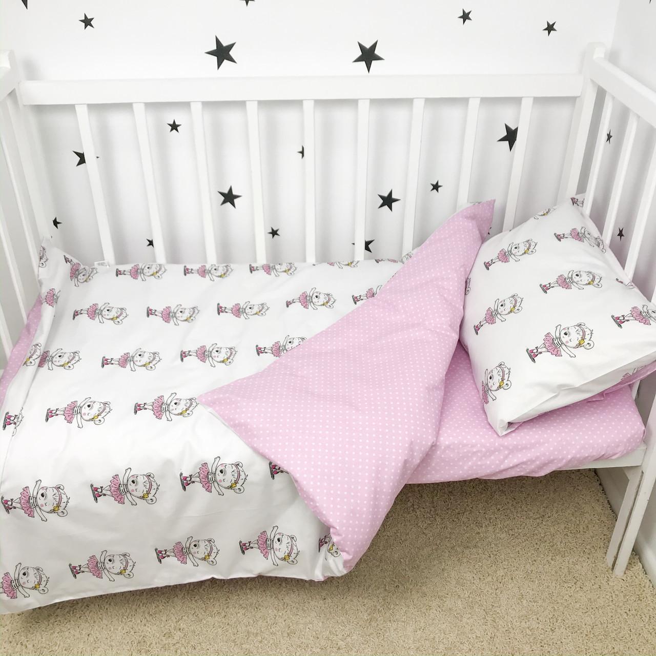 Постельное белье в детскую кроватку «Мишки-балеринки» - Oh my kids