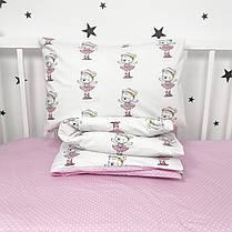 Постельное белье в детскую кроватку «Мишки-балеринки» - Oh my kids, фото 2