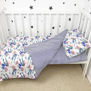 """Постельное белье в детскую кроватку """"Самолётики"""" - Oh my kids, фото 2"""