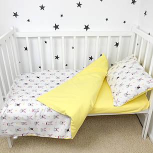 """Постельное белье в детскую кроваткуу """"Жёлтые Зайки """" - Oh my kids, фото 2"""