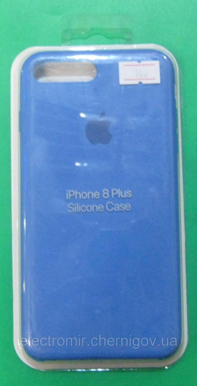 Чехол-бампер для телефона iPhone 8 Plus (голубой)