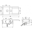 Мойка для кухни гранитная Aquasanita Lira SQL-151AW-111 силика, фото 3