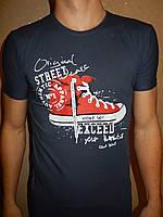 Футболка мужская RBS, накатка стрейч коттон STREET 007 \ купить футболку мужскую оптом
