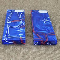 Накладки для рукояті ножа акрил синьо черв 125x40x9 мм