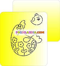 Набір Трафаретів + формочок-вирубок для пряників Курочка з курчам