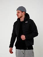 Мужская короткая стеганая куртка демисезон пума/Puma, черная