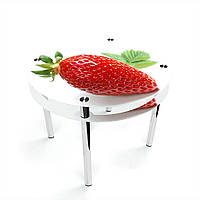 Стол обеденный на хромированных ножках Круглый с проходящей полкой Sweet berry