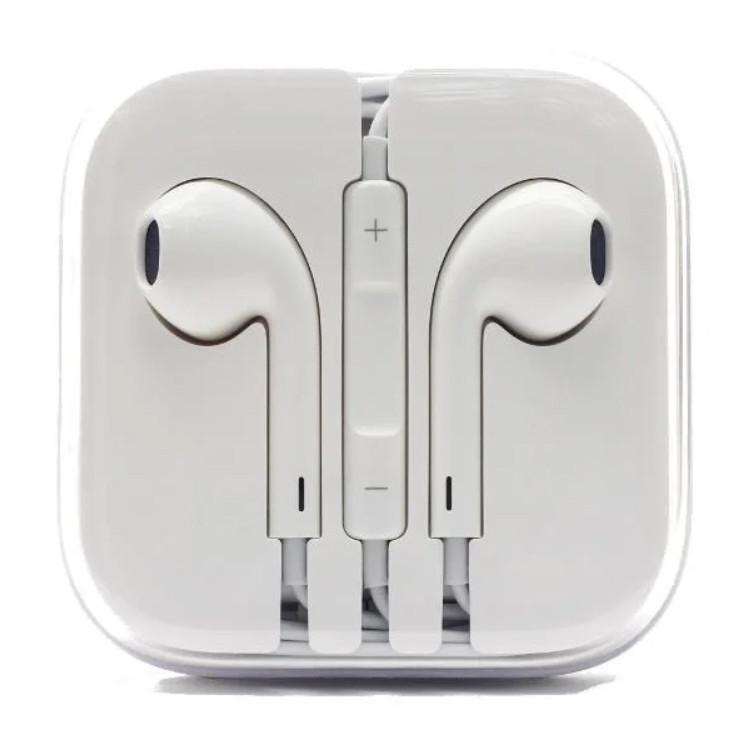 Дротові навушники-гарнітура Білі