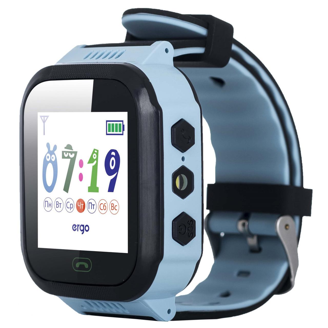 Дитячі смарт-годинник ERGO GPS Tracker Color J020 - Дитячий трекери (Синій)
