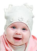 "Детская шапка ""Ди"" на завязках"