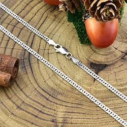 Серебряная цепочка Панцирная двойная длина 50 см ширина 2.5 мм вес 5.96 г