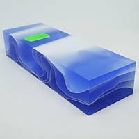 Брусок акриловий. Акрил для рукояті ножа Блакитний лід 120х40х24мм