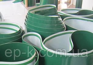 Лента конвейерная с покрытием ПВХ (PVC) 200 х 1,4 мм, цвет зеленый, конечная, бесконечная, фото 2