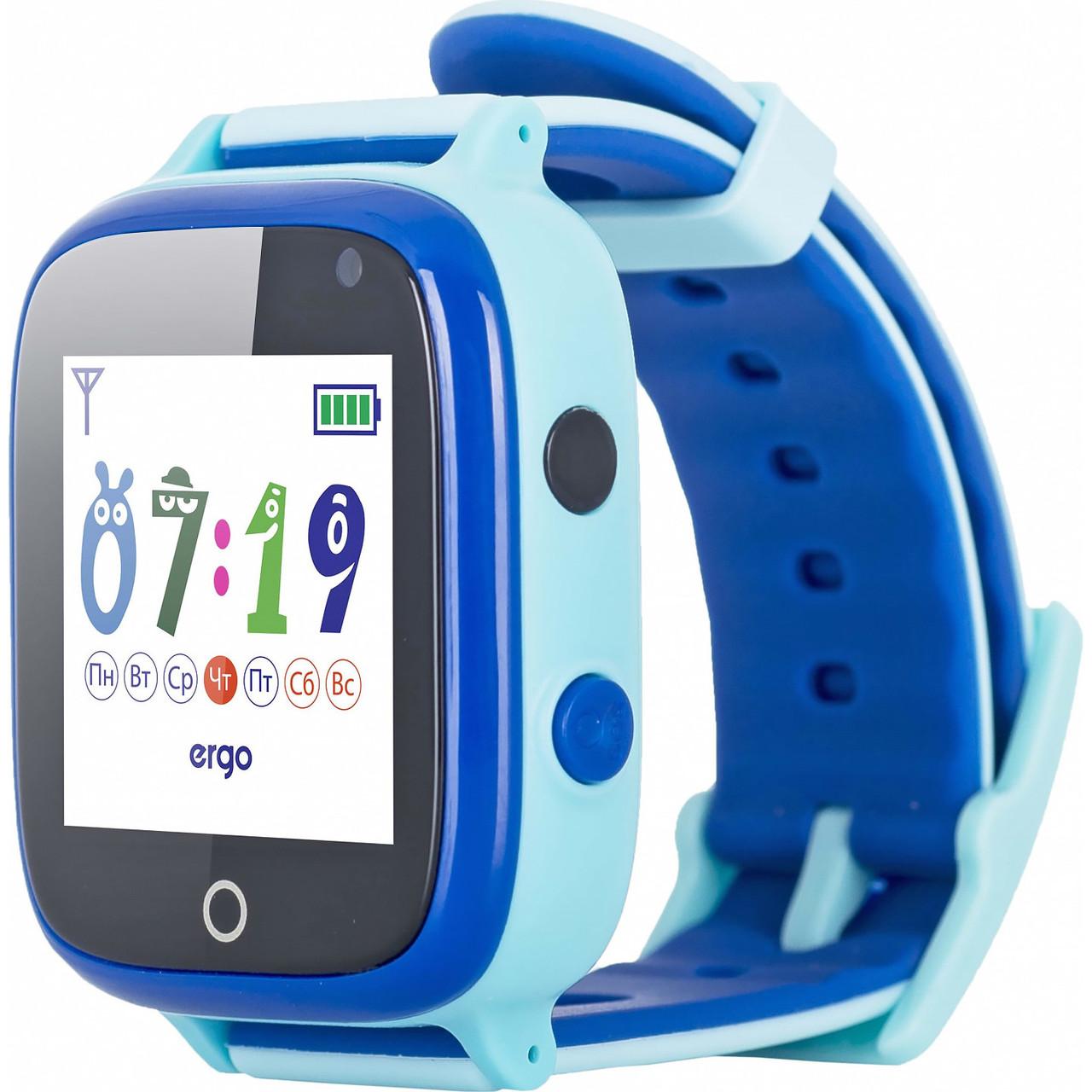 Детские смарт-часы ERGO GPS Tracker Color C020 - Детский трекеры (Blue)
