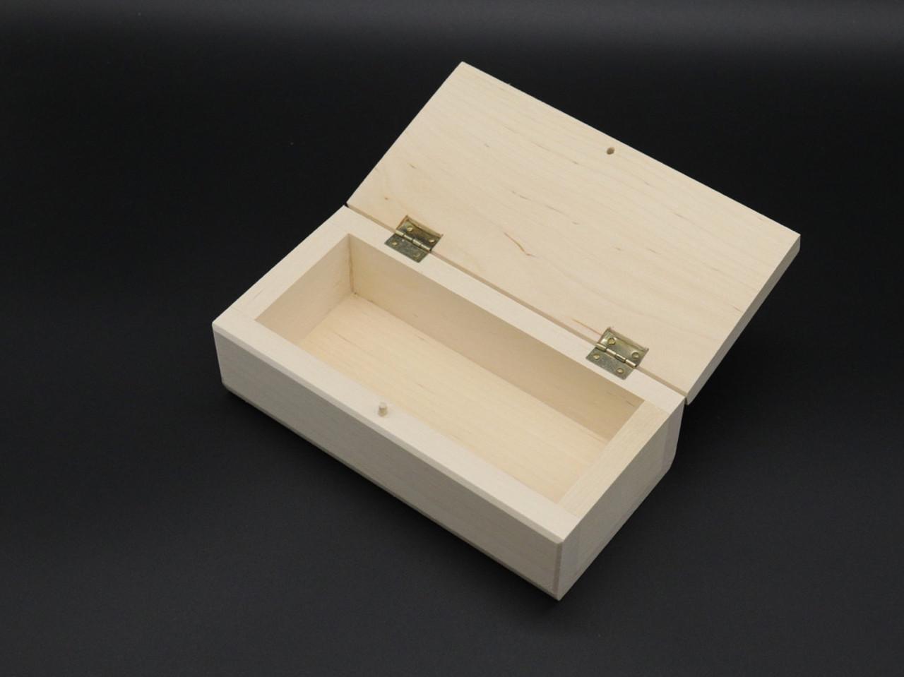 Скринька(заговка) з петлями. 8*16х5.5см. Матеріал береза.