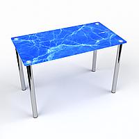 Стол обеденный на хромированных ножках Прямоугольный Acqua