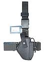 Кобура набедренная черная для пистолета ПМ, материал кордура, фото 2