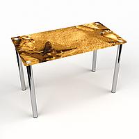 Стол обеденный на хромированных ножках Прямоугольный Sabbia