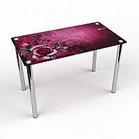 Стол обеденный на хромированных ножках Прямоугольный Vinoso