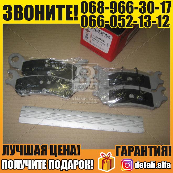 Колодка тормозная дисковый тормоз (пр-во ASHIKA) (арт. 51-03-300)