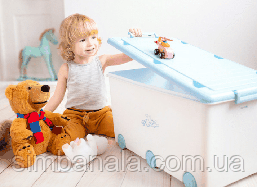 Ящик для игрушек пластиковый Tega Baby(белый), Польша