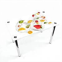 Стол обеденный на хромированных ножках Прямоугольный Milkshake