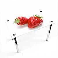 Стол обеденный на хромированных ножках Прямоугольный Red berry