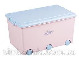 Ящик для детских игрушек Tega Baby(розовый), Польша