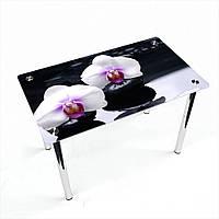 Стол обеденный на хромированных ножках Прямоугольный Relax