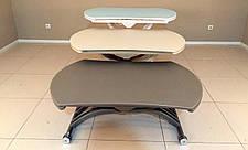 Круглый обеденный стол трансформер Бергамо (B2420)  Exm, цвет белый, фото 3