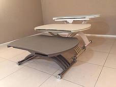 Круглый обеденный стол трансформер Бергамо (B2420)  Exm, цвет белый, фото 2