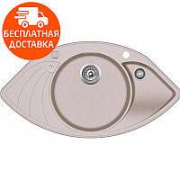 Мойка для кухни гранитная Aquasanita Papillon SCP-151AW-110 бежевый