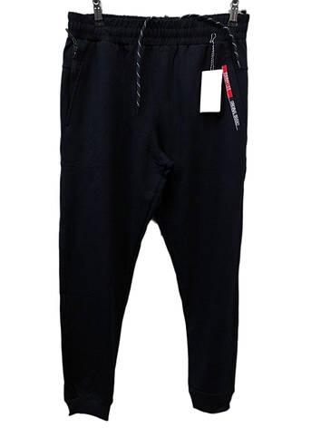 Мужские трикотажные брюки Tommy Life спортивные штаны на манжетах Синие, фото 2
