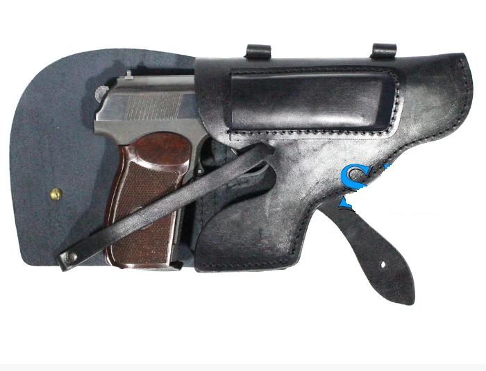Поясная кобура из кожи для пистолета Макарова и схожих моделей по конструкции