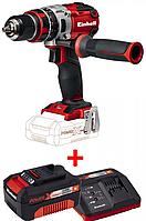 Набор ударный шуруповерт бесщеточный Einhell TE-CD 18 Li-i Brushless Solo + зарядное устройство и аккумулятор