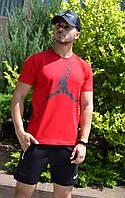 """Красная футболка """"В стиле Jordan"""" черное лого"""