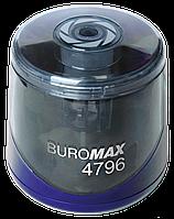 Точилка автоматическая Buromax 1 отв., контейнер, синяя