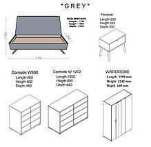 Кровать двуспальная Грей MW1600 (Embawood), фото 3