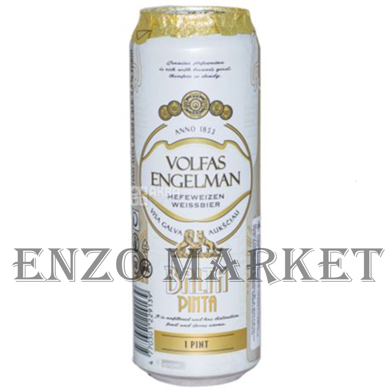 Пиво Volfas Engelman Balta Pinta, 0,5 литра