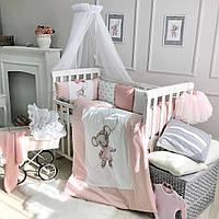 Комплект в кроватку Kids Toys Мышка, розовый