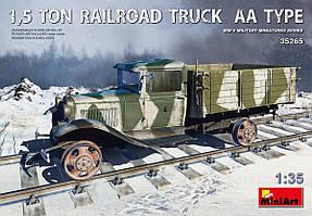 1,5 Тонный железнодорожный грузовой автомобиль Тип АА. 1/35 MINIART 35265