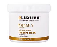 Luxliss Keratin Repair Therapy Маsk Maска для домашнего ухода за волосами, 400 мл
