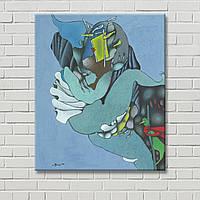 Гулин Настенный декор Дизайн квартиры Голубая картина Картина на стену Настенная картина  Картина на холсте