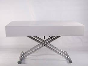 Стол-трансформер Палермо -1 B2391-1 TES Mobili  цвет столешницы белый/ножки серебро, фото 2