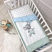 Комплект в кроватку Kids Toys Мышонок,мятный с голубым