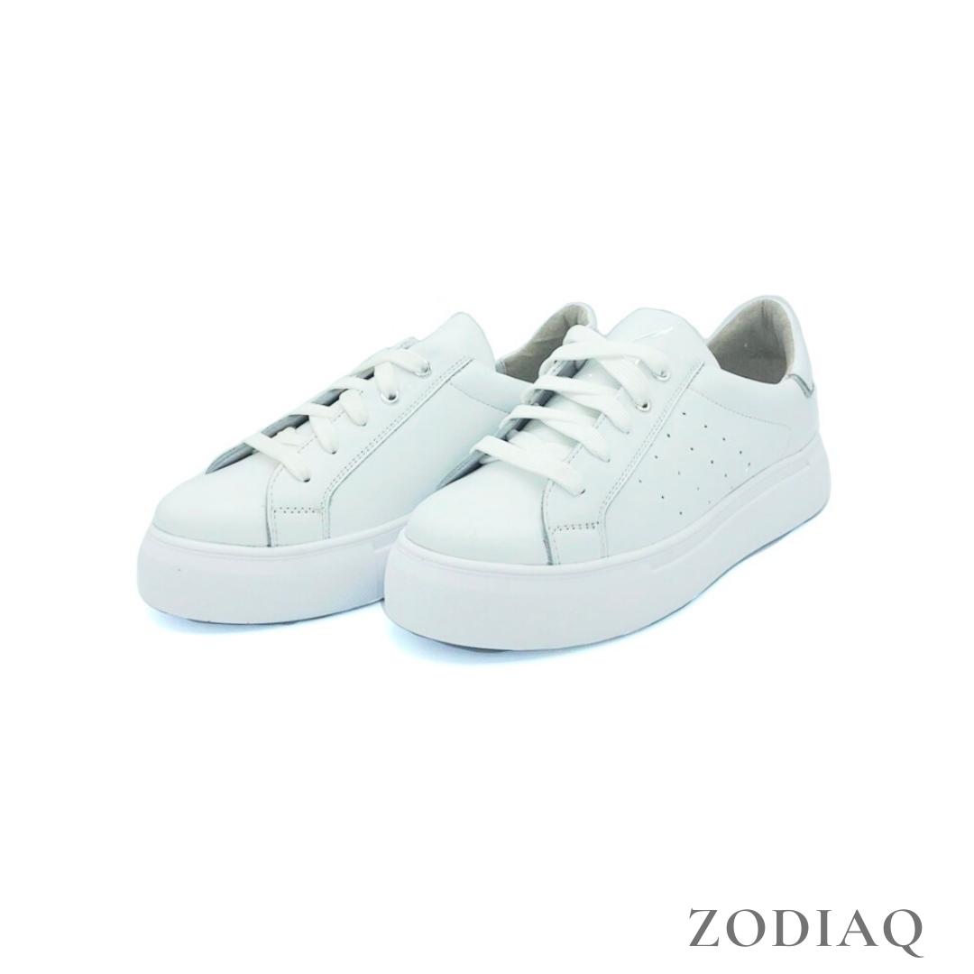 Кеды женские кожаные белые весна - t2165-0 ZodiaQ