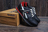 Чоловічі шкіряні кросівки Anser Reebok NS black, фото 6