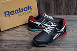 Чоловічі шкіряні кросівки Anser Reebok NS black, фото 7